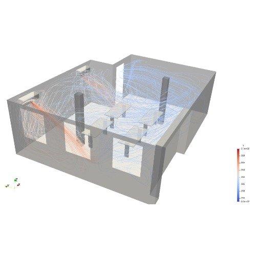 Riscaldamento, ventilazione e condizionamento dell'aria (HVAC): Analisi rapide della ventilazione di un ambiente chiuso